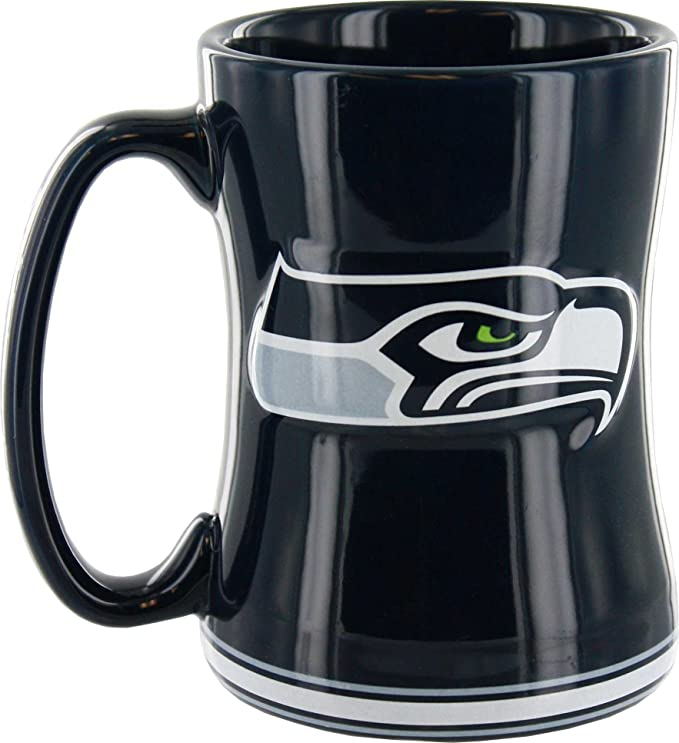 Seattle Seahawks Sculpted Coffee Mug Kitchen Dining Amazon Com