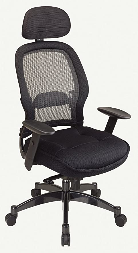 amazon com office star space professional deluxe matrex back chair