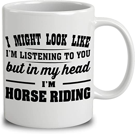 In My Head I/'m Riding My Horse Gifts Horse Riding Gifts Horse Riding Mug