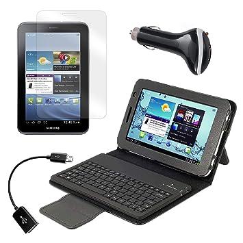 Bluetooth teclado Funda con Protector de pantalla, cable OTG ...
