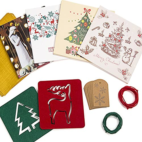 christmas decorations set bundle with 20 cards gift tags jute twines 2