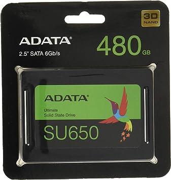 ADATA 480GB SU650 2.5 Pulgadas SATA 6Gb/s de Estado sólido SSD ...