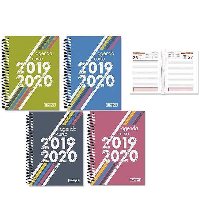 Agenda Escolar con Tapa Dura Vintage 2019 2020 en Pack de 4 ...