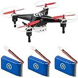 3x Original NINETEC 700mAh Ersatz Akku Batterie für Spyforce1 Video Drohne