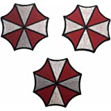 Resident Evil Umbrella Corp Symbol Patch Set of 3 Iron On Patches