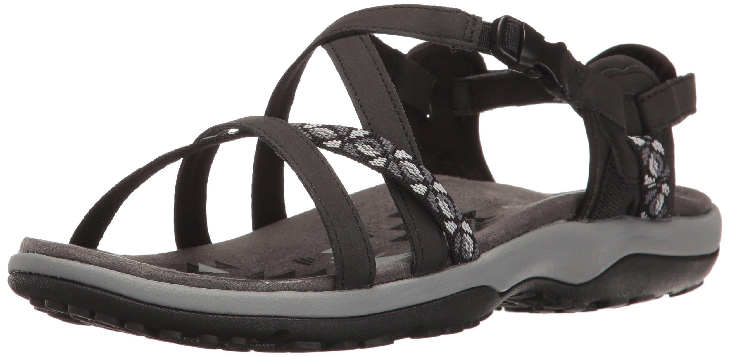 Skechers Women's Regga Slim Keep Close Gladiator Sandal,Black,9 M US