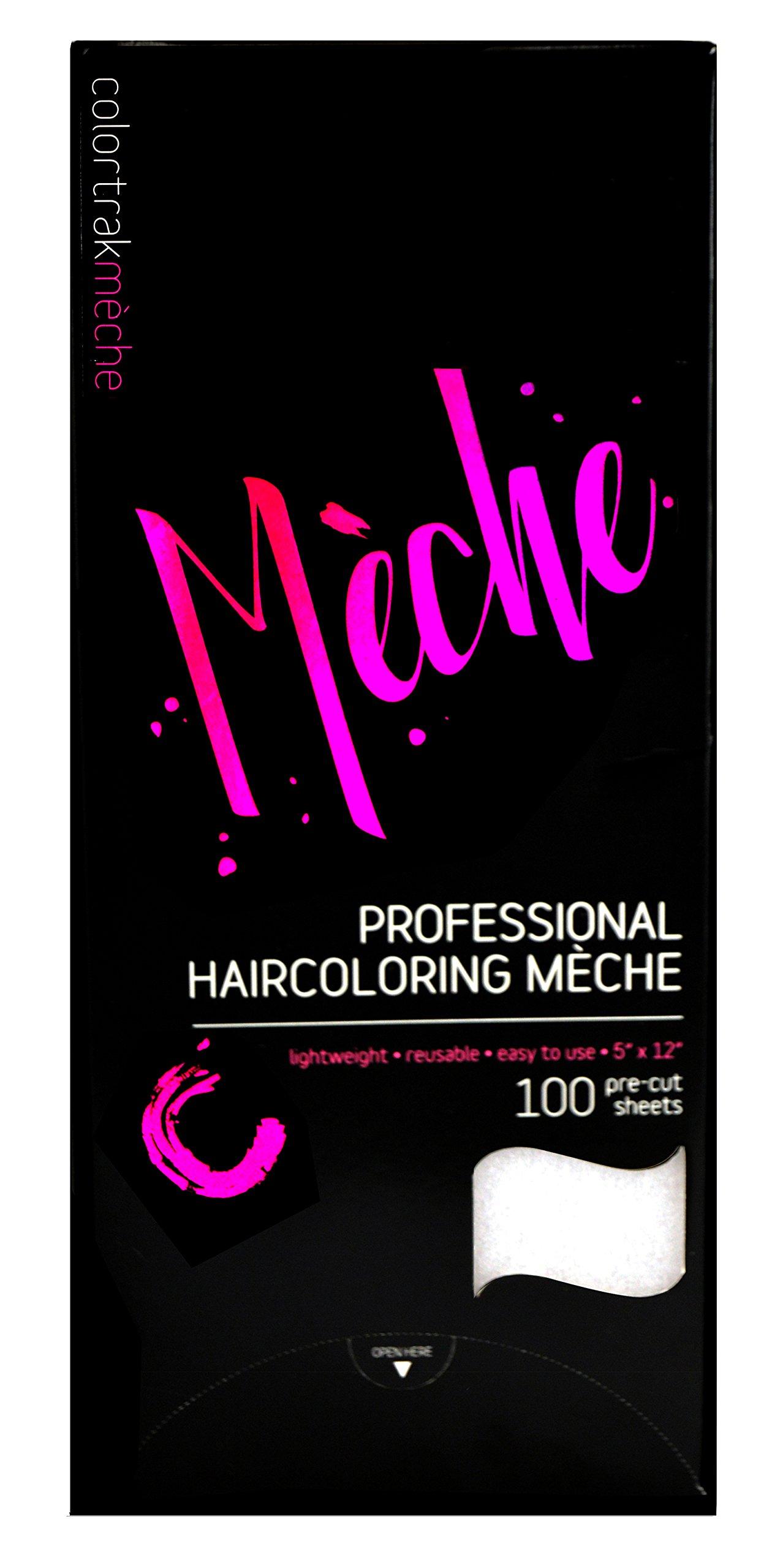 Colortrak Professional Reusable Hair Coloring Meche Sheets, Standard 5'' x 12'' Size (100 Count)
