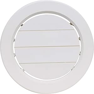 "Valterra A10-3358VP White Rotating Heat and A/C Register with Damper (5"" ID, 7/8"" Collar)"