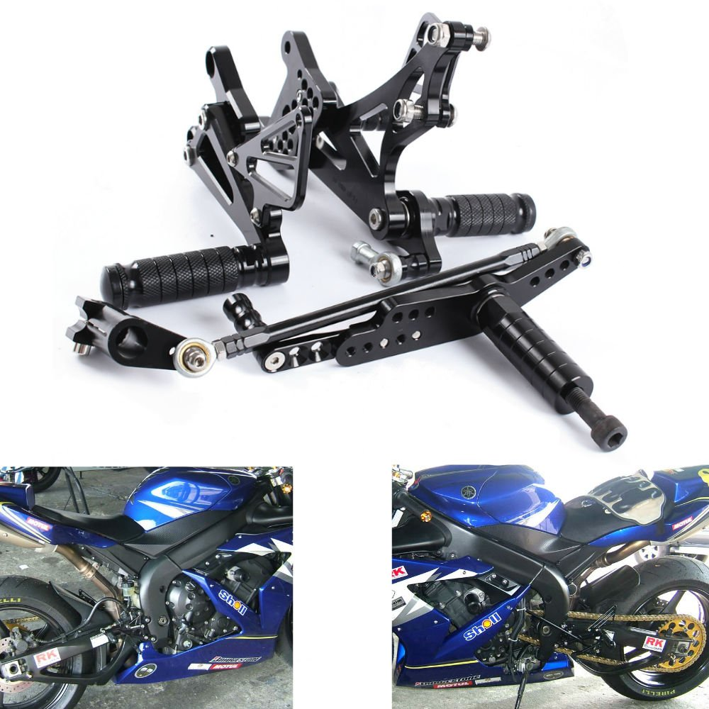 MZS CNC Adjustable Footrests Rearsets for Honda Grom MSX125 2013 2014 2015 2016 2017 Black Honda Grom MSX125 CNC Rearsets