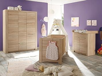 Babyzimmer möbel  Babyzimmer Komplettset Kinderzimmer Schrank Bett Baby Möbel ...