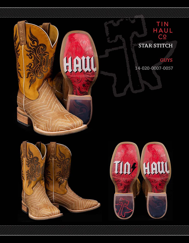 Tin Haul Star Stitch Boots