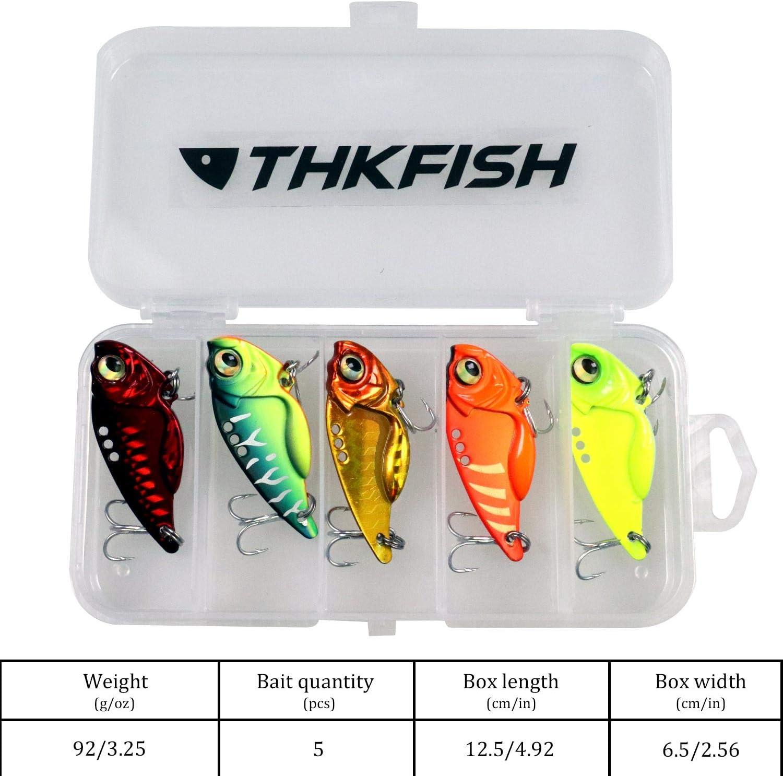 Thkfish Metal VIB Hartk/öder f/ür Salzwasser S/ü/ßwasser Kurbelk/öder Wackelfischen Spinnl/öffel K/öder f/ür Barsch Forellen Crappie Angeln