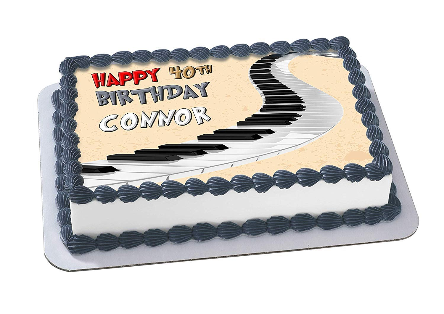 EdibleInkArt Piano Keyboard Edible Cake Topper Personalized Birthday 1 4 Sheet Decoration Custom Party On Wafer Rice Paper Amazon