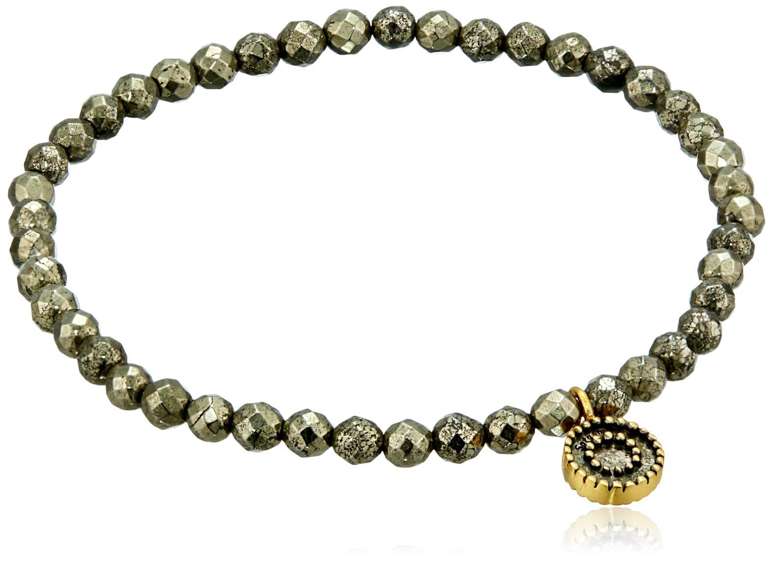 Satya Jewelry Sun 4mm Pyrite Stretch Bracelet