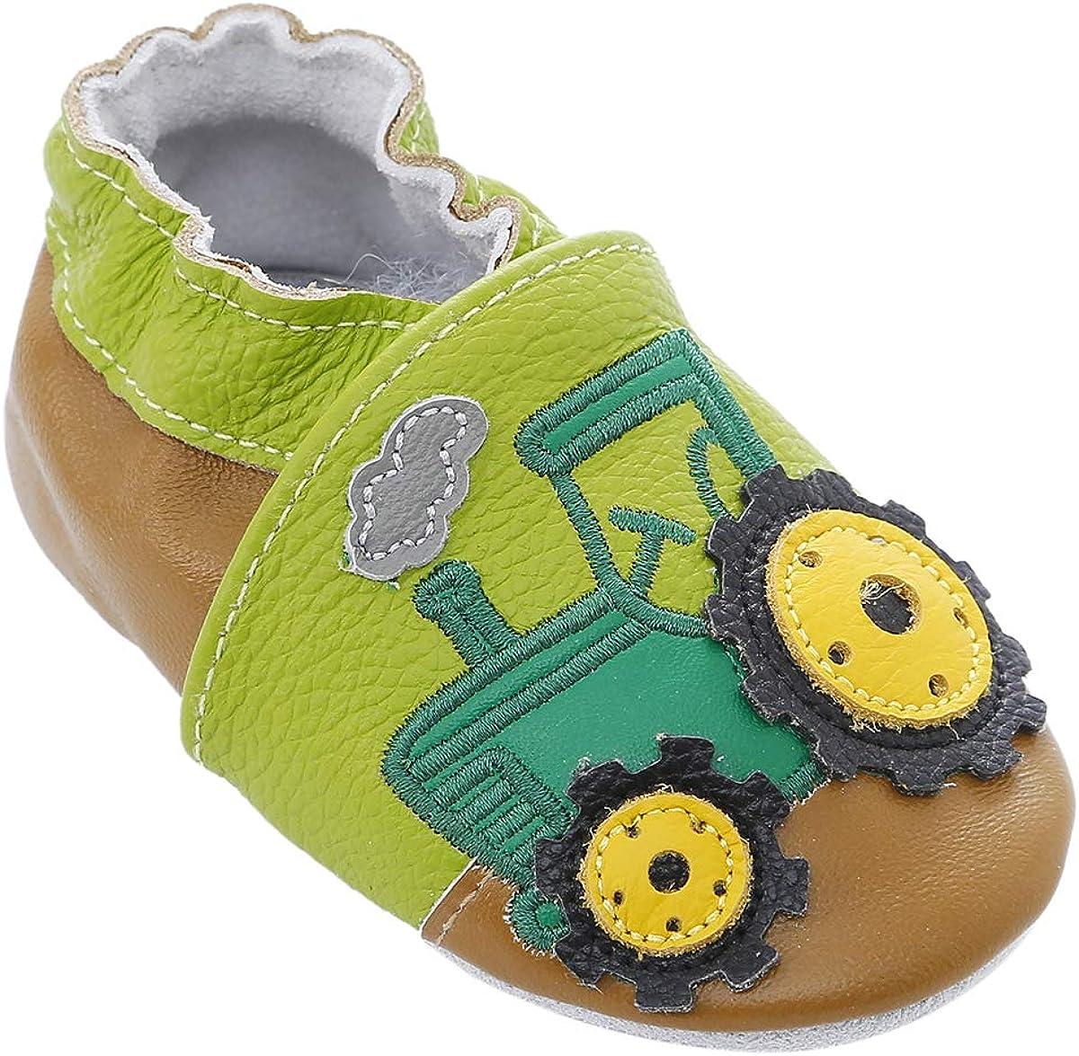 Zapatos de bebé de Cuero Suave con Mocasines Suelas de Gamuza para bebés Niños pequeños Niños Prewalker Zapatos