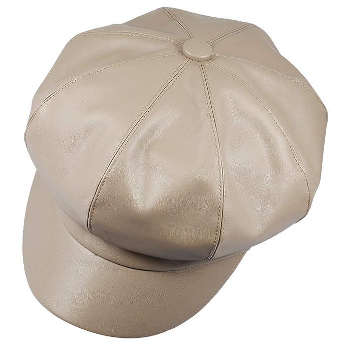 KYEYGWO - Gorra de béisbol para Mujer, de Piel sintética, 8 ...