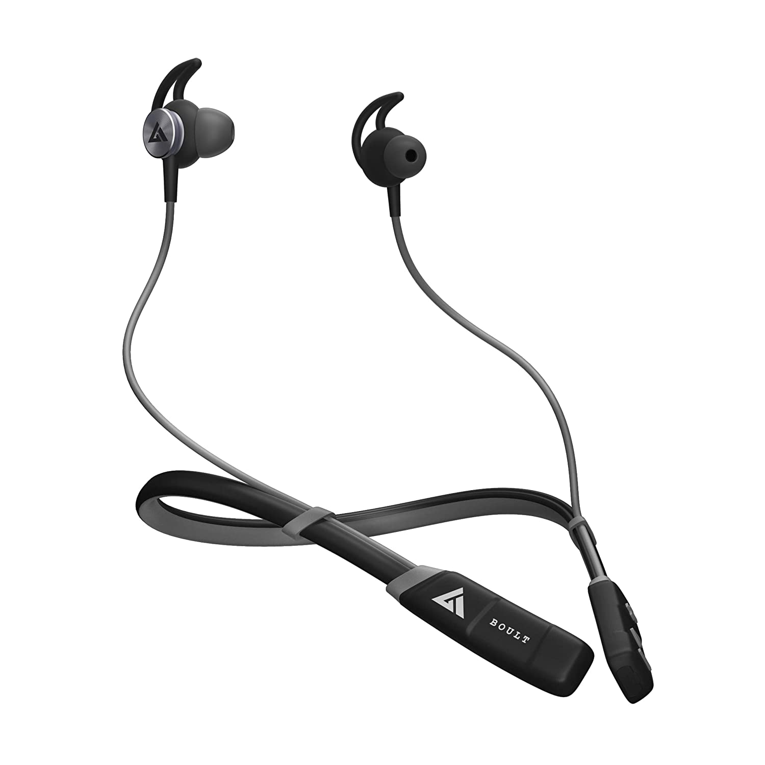 Boult Audio ProBass CurvePro Neckband in-Ear Wireless Earphones with 12H Battery Life & Fast Charging, Vibration for Call Alert, IPX5 Sweatproof Headphones in-Built Microphone (Grey)