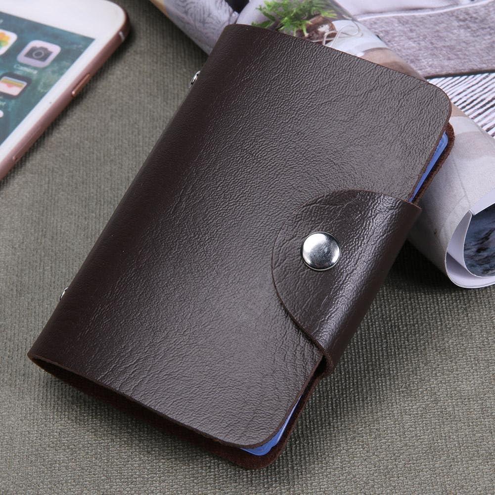 amazingdeal Fashion Unisex 12 Bit Slots Business Card Organizer PU ID Card Holder Case
