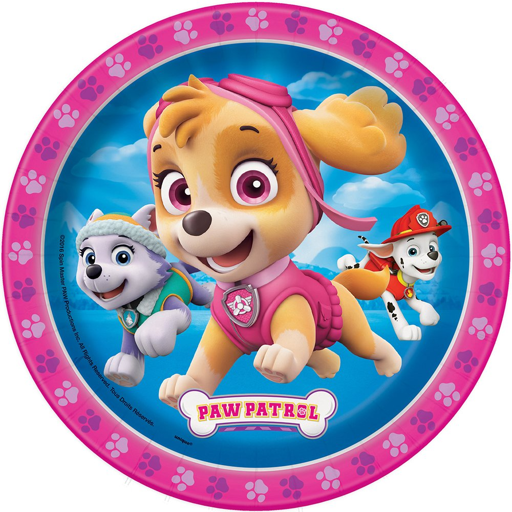 sc 1 st  Amazon.com & Amazon.com: Skye Girl PAW Patrol Dessert Plates 8ct: Toys u0026 Games