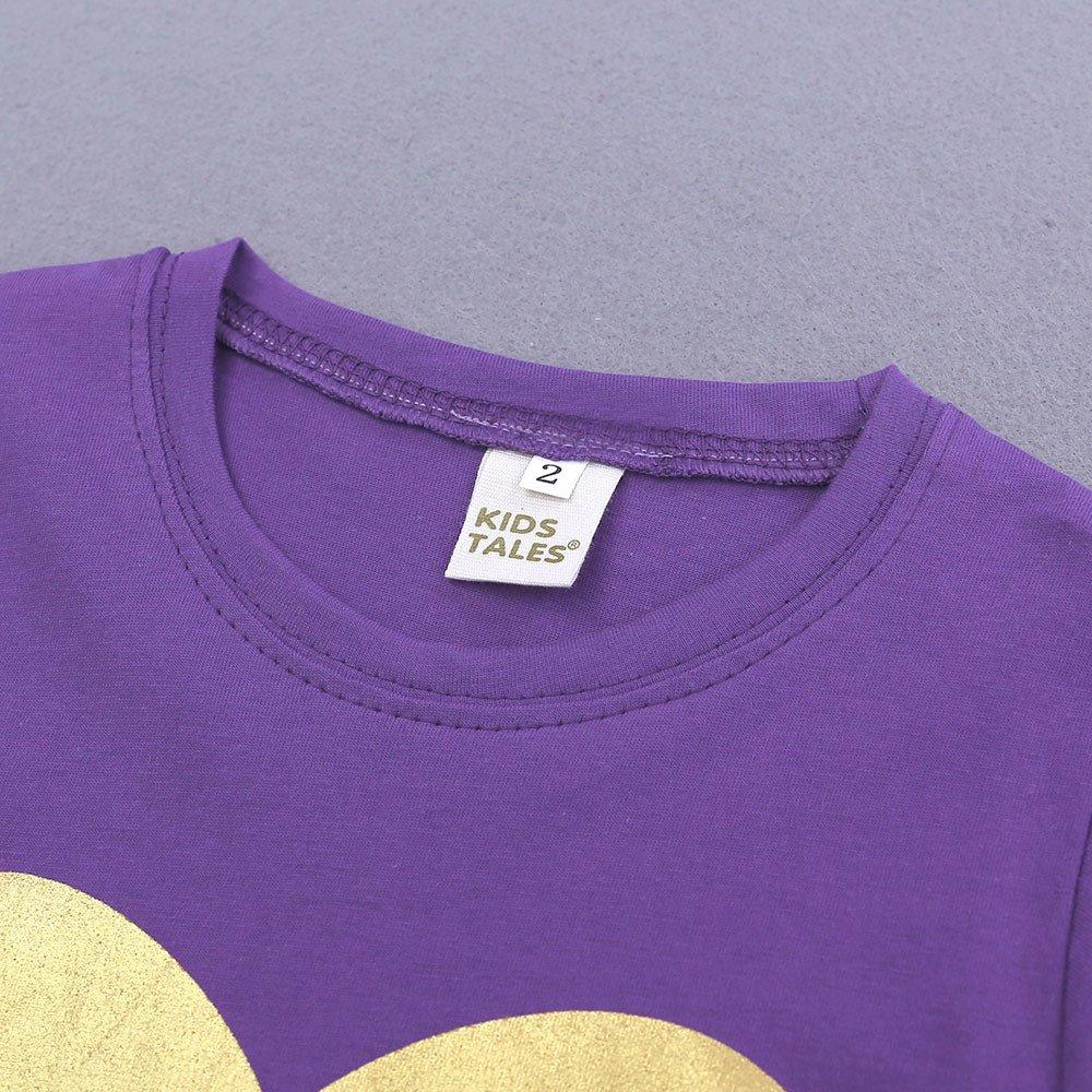 Summer Pajama Sets For Kids Girls,Baby Girls Cotton Tee Tops + Pajama Pants Girls Homewear Set(Purple,3 Years) by Wesracia (Image #5)