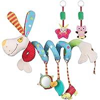 Lictin Juguetes Colgantes Espiral para Bebés- (3 PCS) Juguetes Colgantes del Cochecito para Bebés juguete con espejo y…
