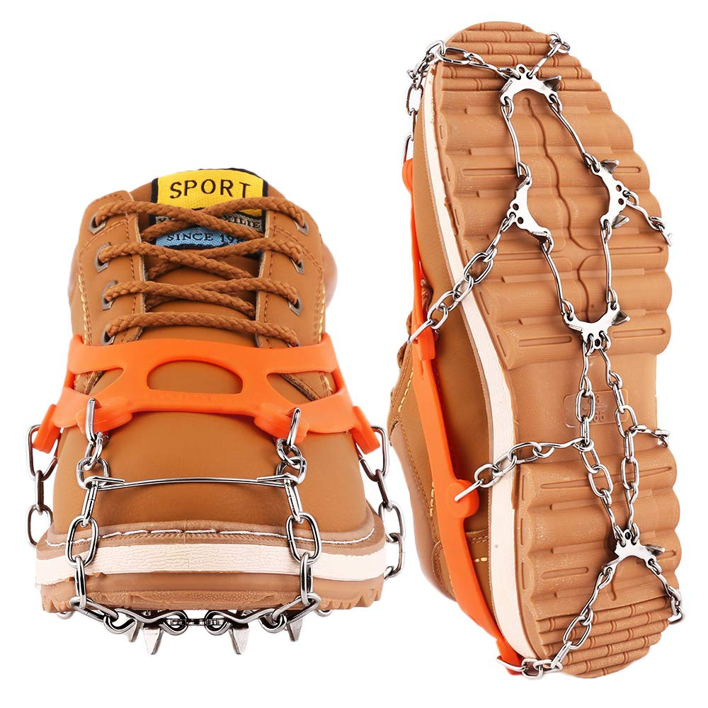 Cutiful Traction Cleats Crampons Ice Snow Cleats Ice Grips Grippers Microspikes Men Women Boots Shoes Spikes Walking Camping Hiking Winter Snow Spikes by Cutiful