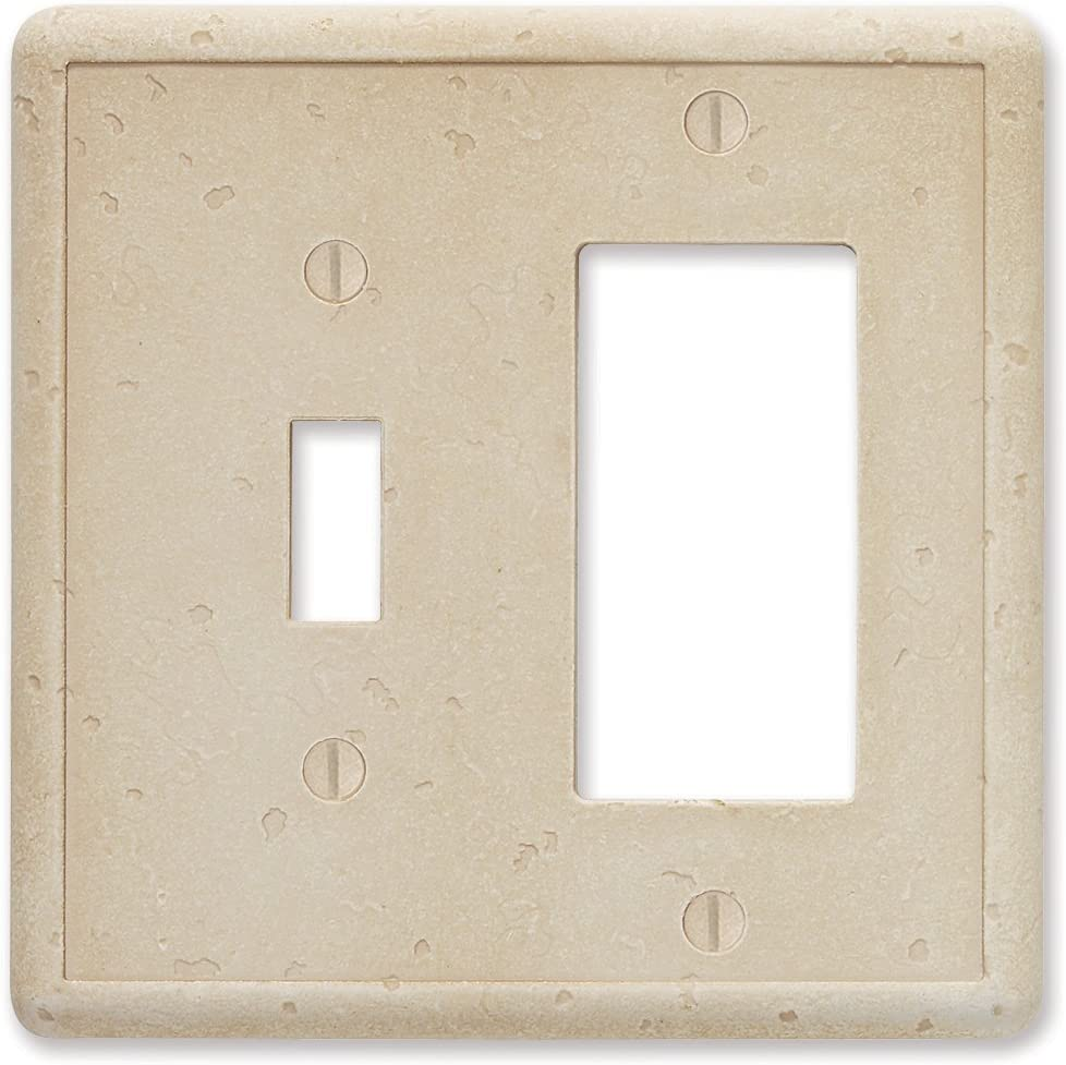 Toggle/GFCI Combo - Travertine Light Switch Cover Tumbled Textured Outlet Cover Wall Plate
