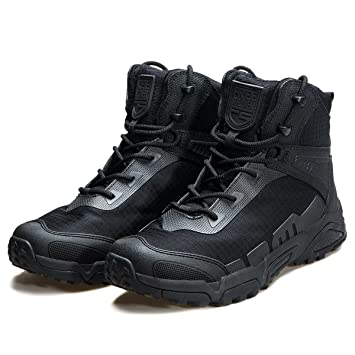 f41da21012304 FREE SOLDIER Men's Tactical Boots Breathable Military Army Boots Durable  Combat Work Shoes Lightweight Hiking Walking Boots