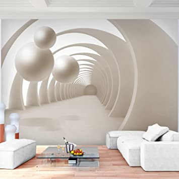 Fototapete 3D - Kugel Beige Vlies Wand Tapete Wohnzimmer ...