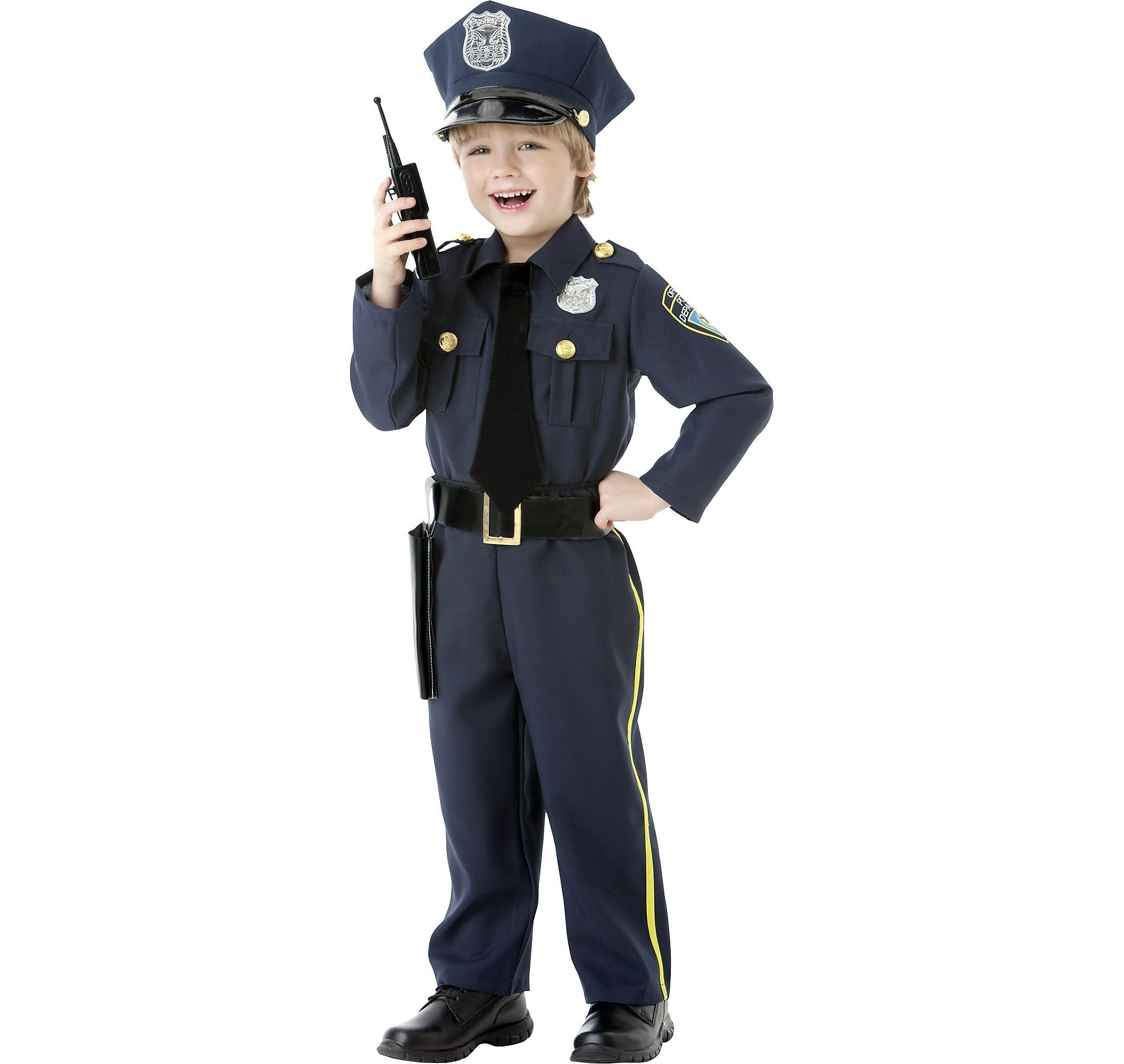 Amscan Cops and Robbers Party Navy Blue Police Officer Costume, Fabric, Children's Toddler (3-4), 5-Piece Set