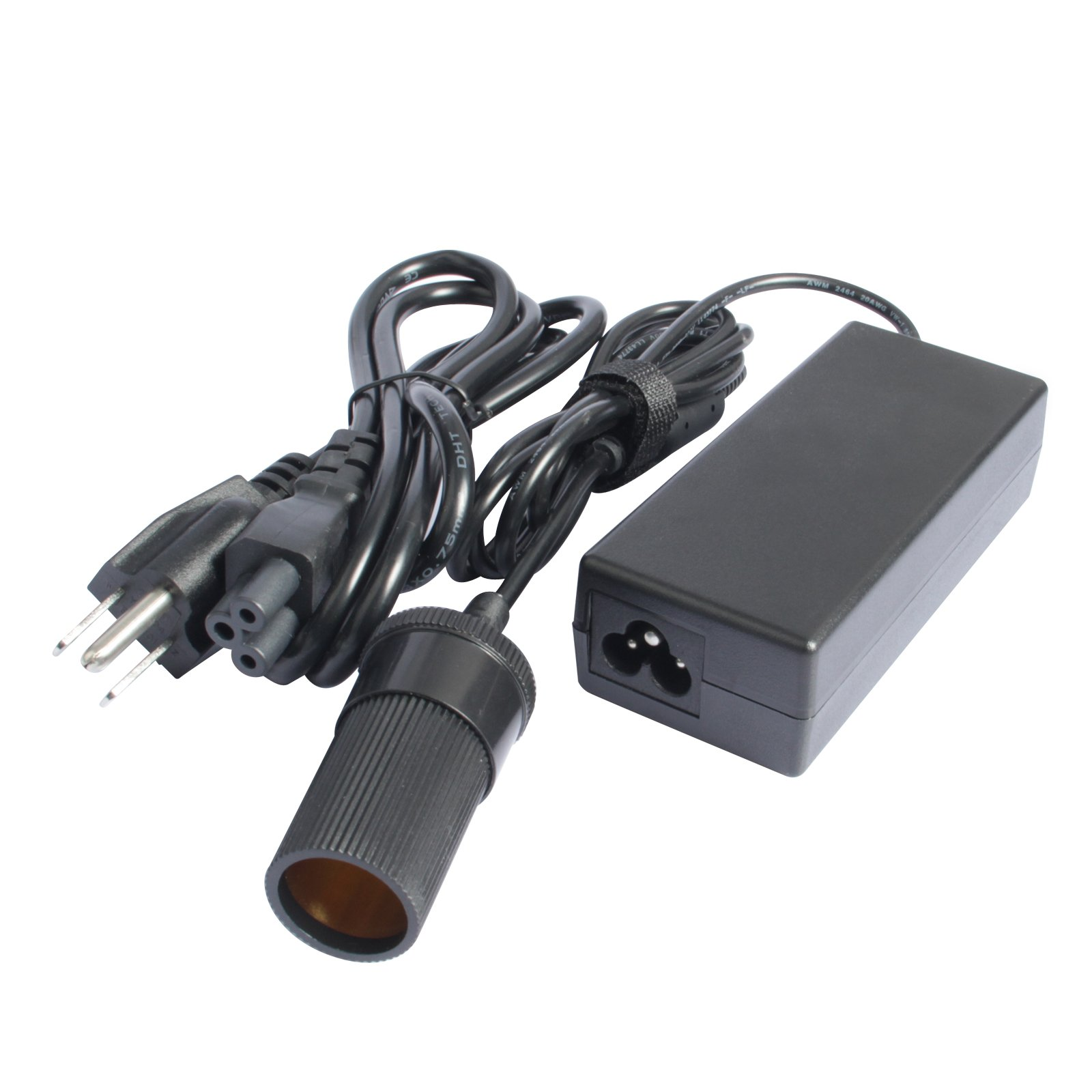 Fancy Buying 110V AC to 12V DC Converter, 12V 5A 60W Power Supply Adapter with Car Cigarette Lighter Socket (Adapter)