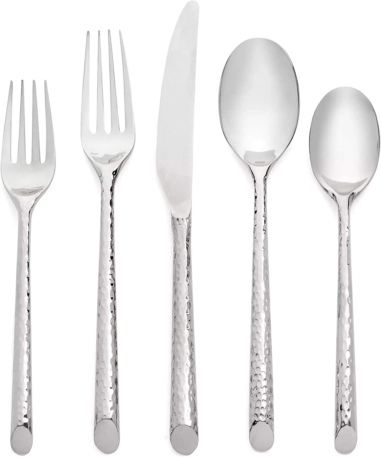 Cambridge Silversmiths Granger Mirror 20-Piece Flatware Silverware Set, 18/10 Stainless Steel, Service for 4, Includes Forks/Spoons/Knives