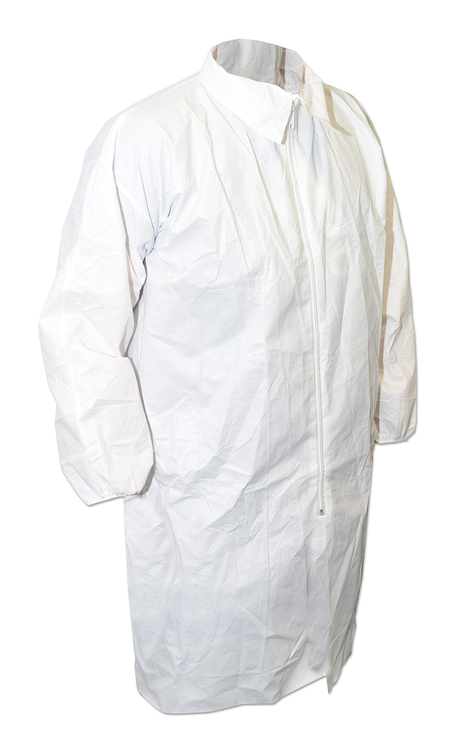 600-5003 - Lab Coat, Disposable, White, Polypropylene, Large, Cleanroom (600-5003) (Pack of 10)