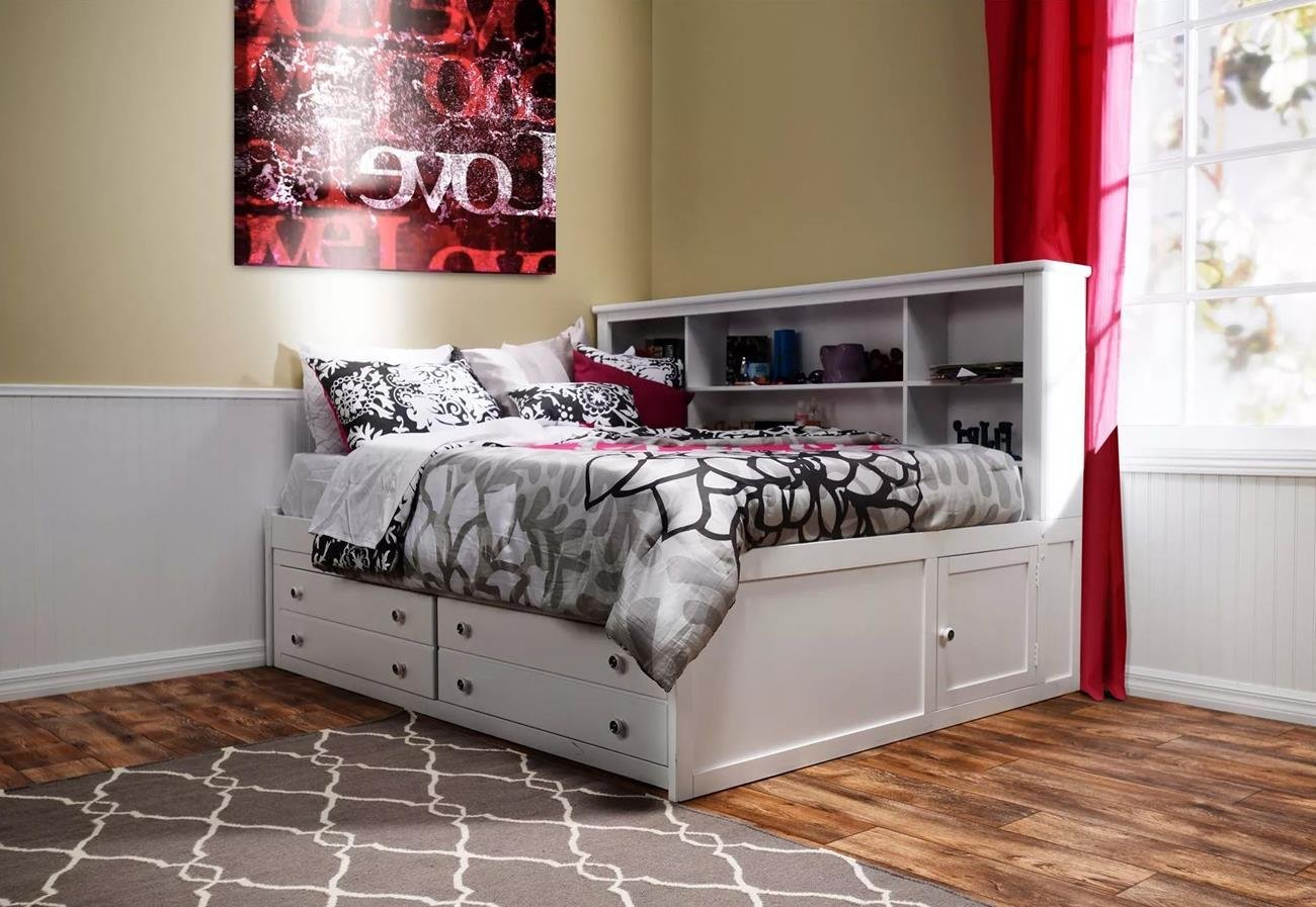 Beatrice Youth 5 Piece Full Lounge Bedroom Set in White Finish