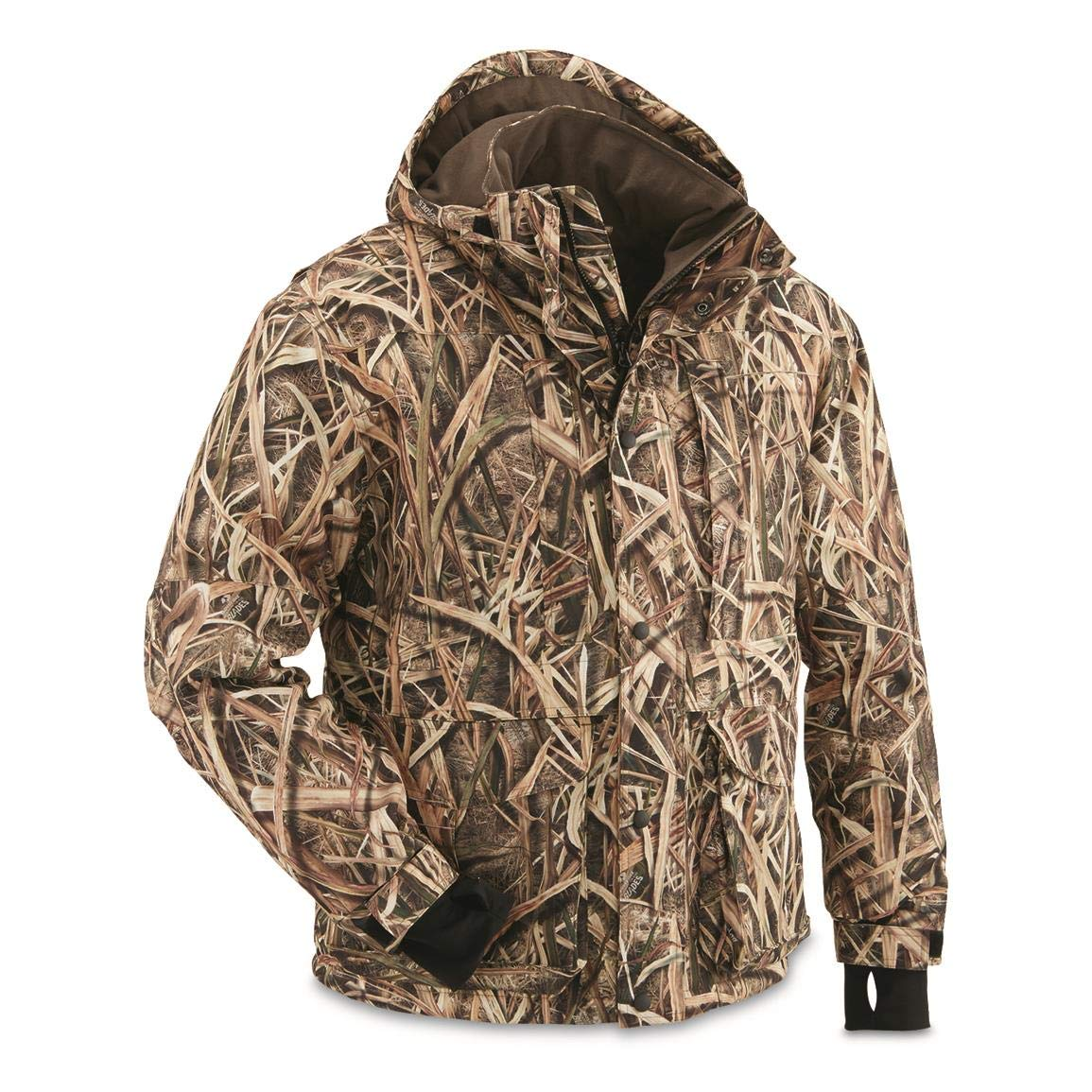 Guide Gear Men's Waterfowl Jacket, Shadow Grass Blades, L by Guide Gear