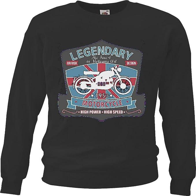 Sudaderas Suéter LEGENDARIO los mejores en el automovilismo arte de la motocicleta INGLATERRA Británico de Londres la MOTORISTA CAMISETA DE LA MOTOCICLETA ...