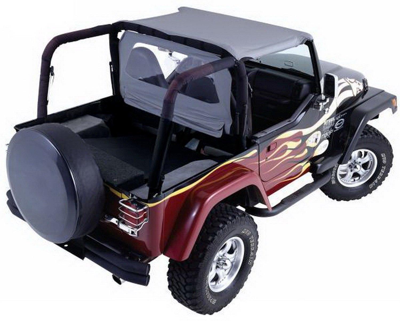 RAMPAGE PRODUCTS 90036R Windbreaker for 1980-2006 Jeep CJ, Wrangler YJ & TJ, Khaki