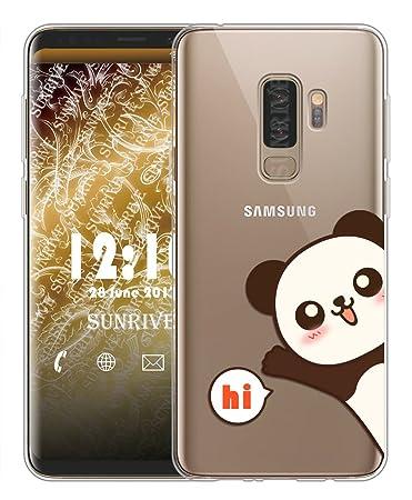 Sunrive Für Samsung Galaxy S9 Plus Hülle Silikon, Transparent Handyhülle Schutzhülle Etui Case Backcover für Samsung Galaxy S