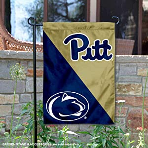 Pitt vs. Penn State House Divided Garden Flag and Banner