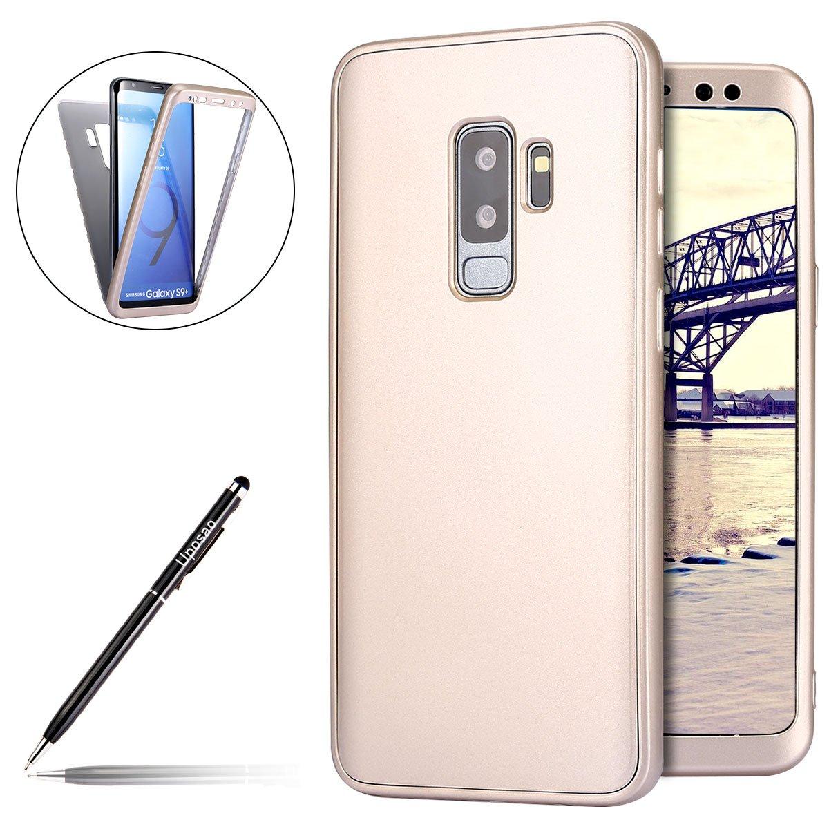 Für Samsung Galaxy S9 Plus Hülle, Uposao Schutzhülle Für Samsung Galaxy S9 Plus Hülle 360 Grad Fullbody Case TPU Silikon Hülle, Komplettschutz Handyhülle Vorder und Rückseiten Schutz Schale Ganzkörper-Koffer Soft TPU Schutzhülle für Samsung Galaxy S9 Plus,