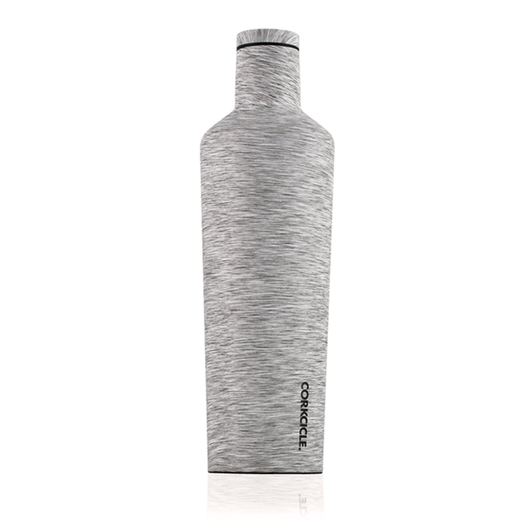 Corkcicle Canteen Heathered Collection-Water Bottle & Thermos-Triple Insulated Shatterproof Stainless Steel, Heathered Grey, 25 oz