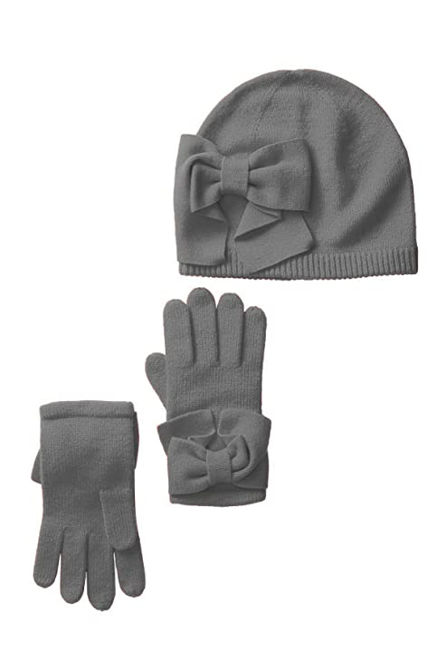 4b153423383 Amazon.com  Kate Spade New York Dorothy Bow Beanie   Gloves Set (Black  (001)