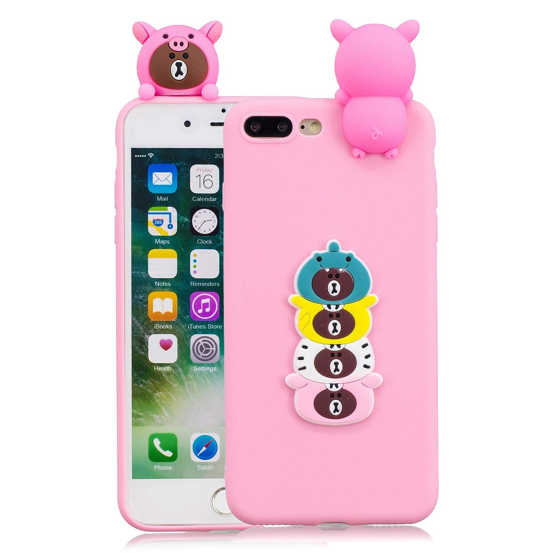 iPhone 7 hü lle, iPhone 8 hü lle Silikon, Huphant Silikon Case Handyhü lle iphone 7 / iPhone 8 Schutzhü lle Pineapple,Ultra dü nn Tasche Schale Etui Stoß dä mpfend Schutzhü lle iphone 7 / iPhone 8 -Hund