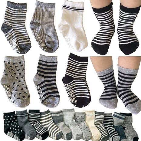 Toddler Kids Boys Cotton Socks Girls Non Slip//Anti Skid Socks Baby Griping Ankle Socks