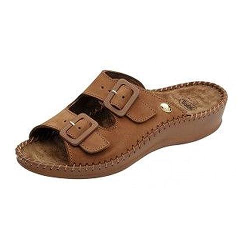 Uomo Sandalo Tan Donna Weekend F200681061 Scholl Pantofole qwRAXtS