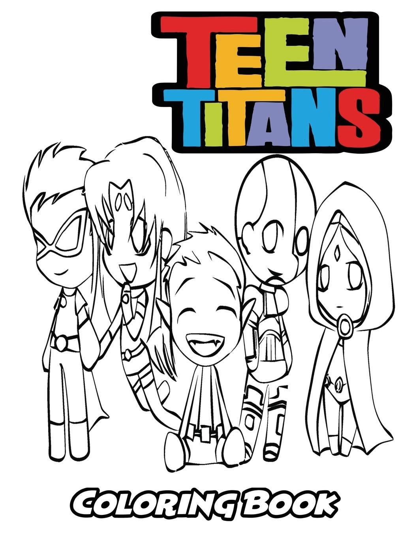 Amazon.com: Teen Titans Coloring Book: Coloring Book for ...