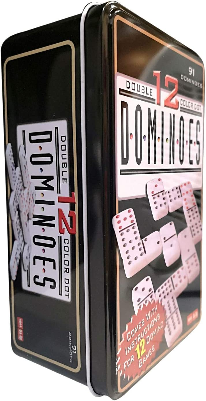 dominoes Domino Doble 12 91 Niños y Adultos Juego de táctica - Juego de Mesa: Amazon.es: Juguetes y juegos
