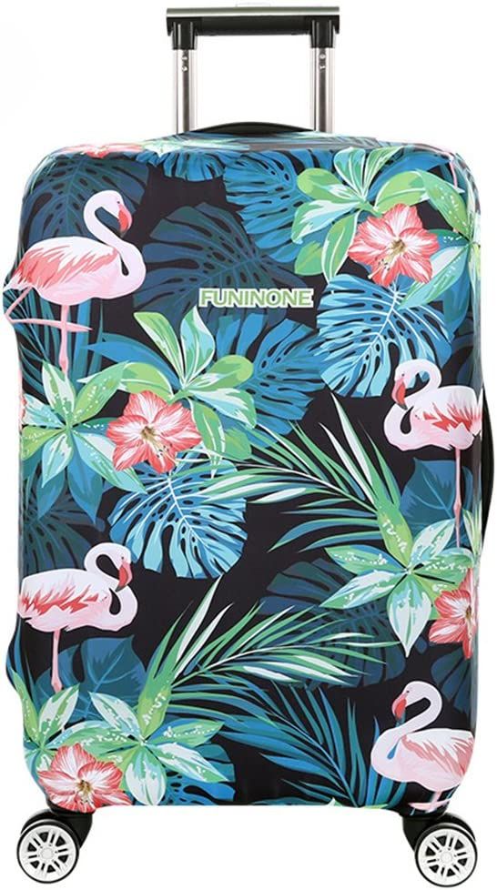 Cubierta de Equipaje en Flamingo Form,Duradero Protector Lavable Plegable, el tamaño del Protector de la Maleta se Ajusta 18-32 Pulgadas (Flamenco 6, XL)