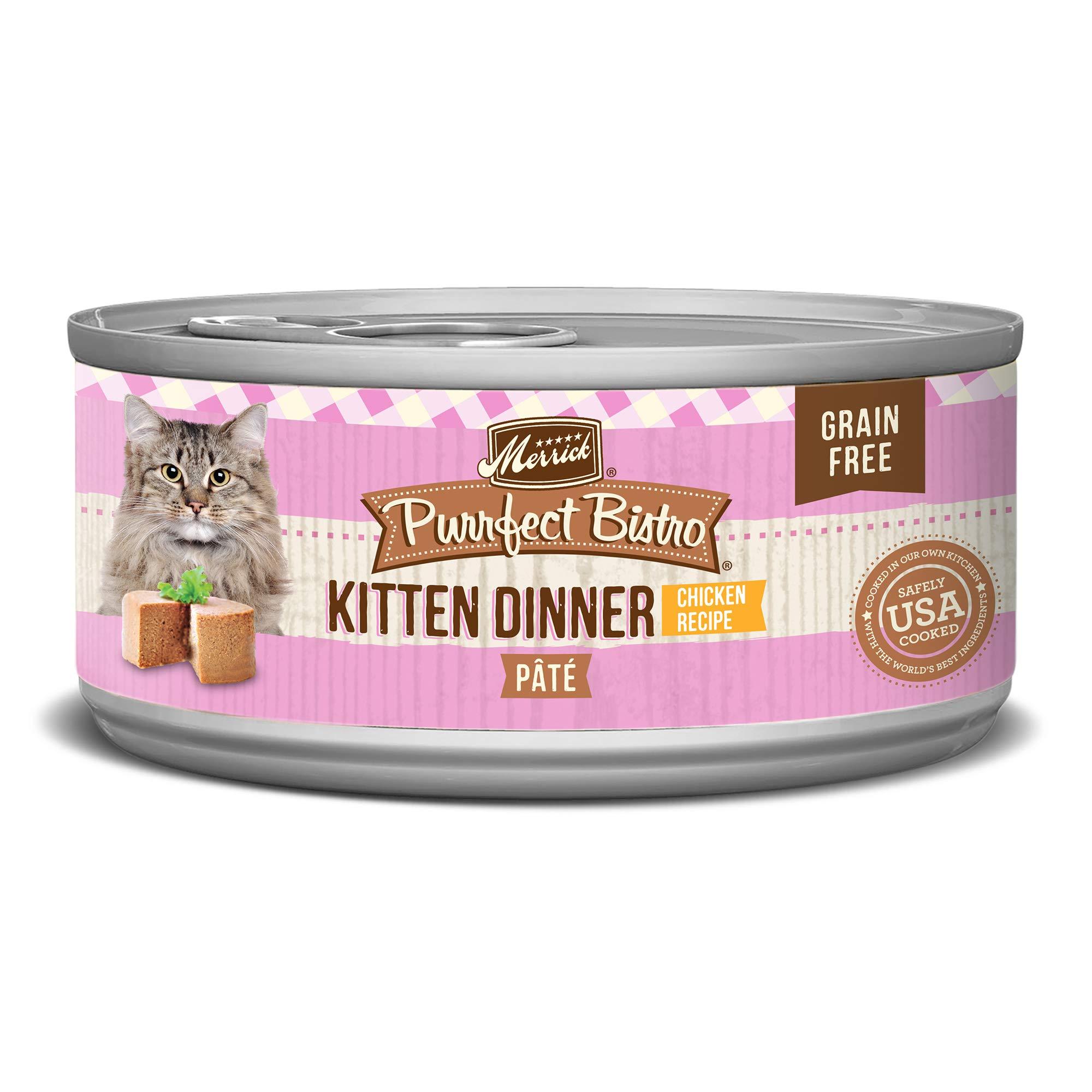 Merrick Purrfect Bistro Grain Free, 5.5 oz, Kitten Recipe - Pack of 24  by Merrick