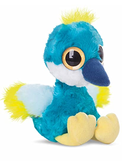 "5"" Blue Yoohoo & Friends Crownee Crowned Crane ..."